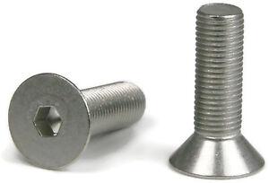 Select Length /& Qty #8-32Chrome Plated Steel Flat Head Socket Cap Screws