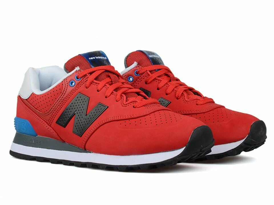 NEW** NEW BALANCE 574 ML574ACC MEN'S CLASSICS SHOES RED BLACK BLUE WHITE