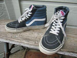 Vans SK8-Hi Navy-Blue Suede High-Top