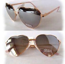 9232cc04d GUESS Heart Shape Love Fun Rose Gold Frame Mirror Lens DESIGNER Sunglasses