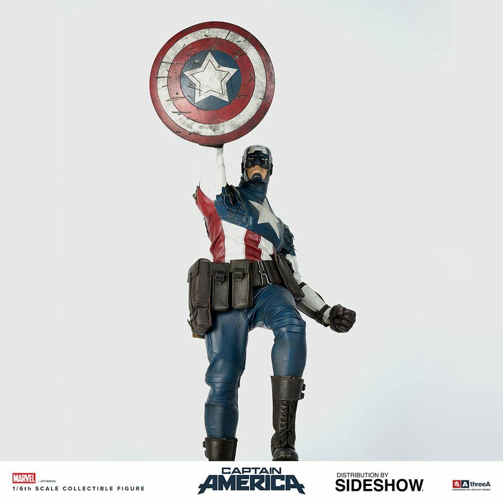 THREEA Captain America Classic Edition 1 6 Scale Figure MINT NEW IN BOX