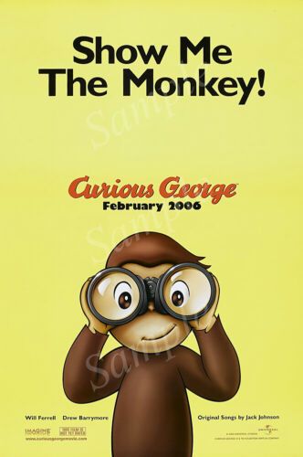 PRM476 Posters USA Curious George Movie Poster Glossy Finish