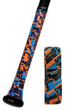 Vulcan Durasoft Polymer Baseball/softball Bat Grip Wrap Fire & Ice 1.75 Mm