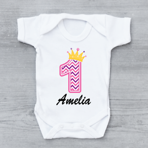 fc79c149 Image is loading Personalised-First-1st-Birthday-Princes-Crown-Number-1-
