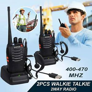 2-BF-888-Baofeng-Two-Way-UHF-400-470-Dual-Band-Long-Range-Radio-Walkie-Talkie