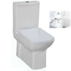 Amazing Details About Creavit Lara Combined Bidet Back To Wall Wc Pan Close Coupled Toilet Integrate Machost Co Dining Chair Design Ideas Machostcouk