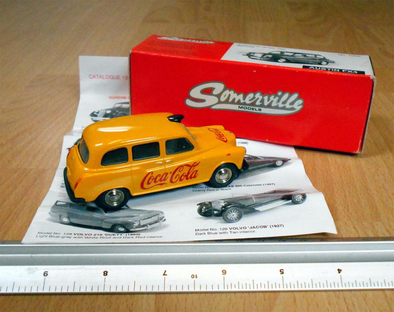 Somerville (1993) No.100A Coca Cola Austin Taxi giallo FX4 1 43