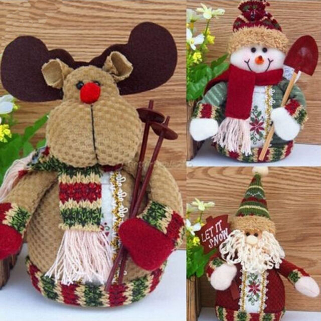 New Christmas Gift Snowman Santa Claus Ornaments Festival Party Xmas Table Decor