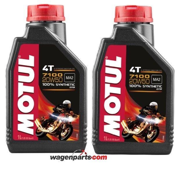 Aceite Motos 4T Motul 7100 20W50, pack 2 litros