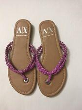 armani exchange Pink Braided thong sandals Size 7