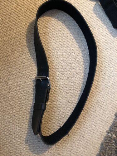 Used Medium 1151. Ex Police Black Leather 50mm Kit Belt