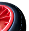 "3.50-8 RED PUNCTURE PROOF WHEELBARROW LAUNCHING TROLLEY 14/"" WHEEL 16MM BEARINGS"