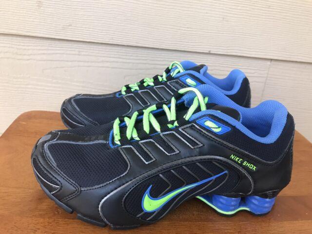 Nike Shox Navina 356918-034 Women's Athletic Running Black Green Blue Size 6