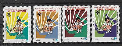 Briefmarken Mittlerer Osten V3163 Jemen-süd/ Intern.jahr Des Kindes Minr 234/37 ** Krankheiten Zu Verhindern Und Zu Heilen