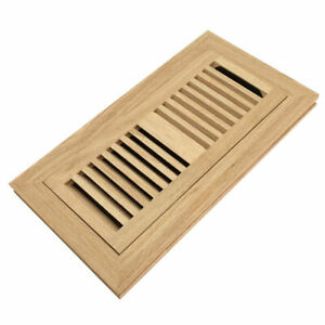 4 X 12 Red Oak Wood Floor Register Flush Mount Vent Cover
