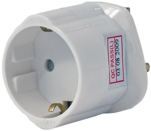Adaptateur voyage schuko to uk connecteurs électriques-VX55548