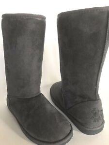 Dawgs-Tall-Boots-Microfiber-Gray-Women-039-s-US-11-EU-43-New