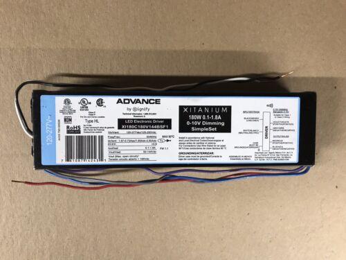 0.1-1.8A Philips Advance XI180C180V144BSF1 LED Driver 180W 120-277V