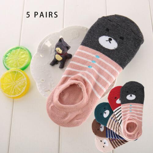 Damen Socken Baumwolle Komfortable Casual Low Tube Nette Unsichtbare Streifen