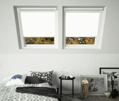 Blackout Skylight Roofblind for VELUX Windows GGU COMPATIBLE WHITE FRAMES!