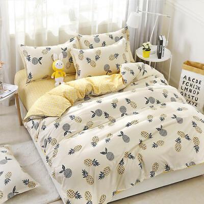 Cartoon Pineapple Print Bedding Set, Pineapple Bedding Set