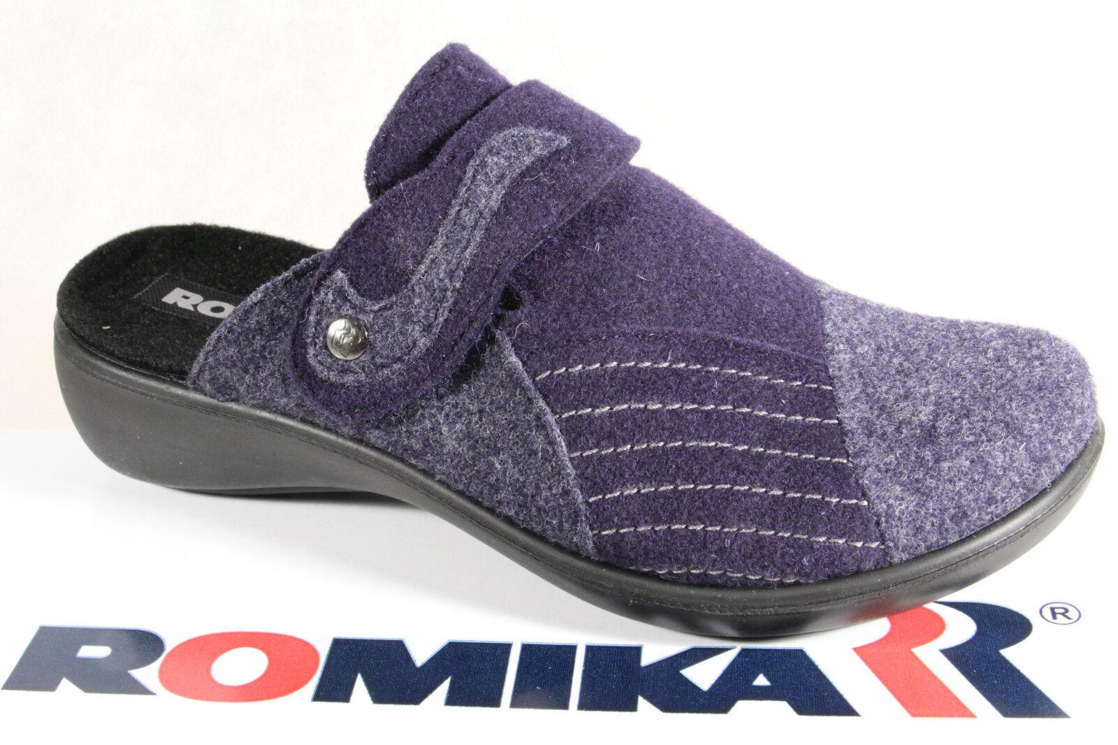 Romika wollfilzinnensohle, Deslizador de señoras, lana suave, wollfilzinnensohle, Romika azul 16306 NUEVO 4e22b7