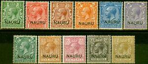 Nauru-1916-23-Set-of-11-SG1-12-Fine-Mtd-Mint