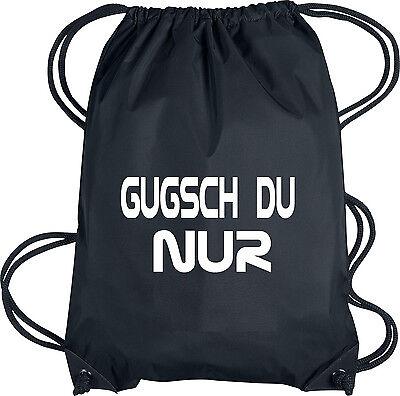 Hipster Turn-Beutel GUDSCH DU NUR Rucksack-Beutel Gym-Bag Tasche Sport-Beutel