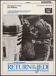 RETURN OF THE JEDI__Orig. 1984 Oscar AD promo / poster__Star Wars_Original Score