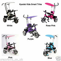 Kids Smart Trike 3 Wheel 4 In 1 Tricycle With Parent Handle Push Along Handles
