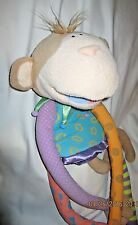 """Manhattan Toy Monkey Jester Puppet with Magnetic Feet 30"""""""
