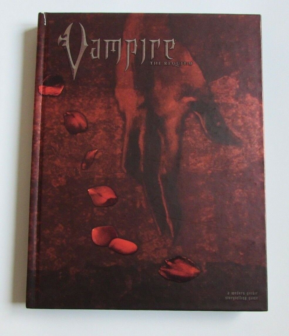 VAMPIRE THE REQUIEM WORLD OF DARKNESS VAMPIRI WHITE WOLF RPG CORE BOOK MANUALE