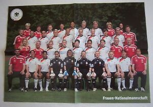 Orig-Poster-DEUTSCHLAND-Frauen-Nationalmannschaft-Team-zur-WM-2011-58x41-cm