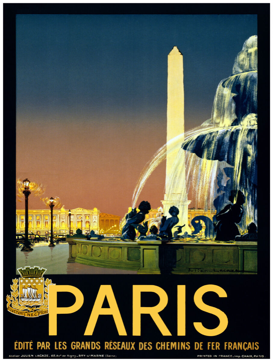 16x20 poster on CANVAS.Interior design.Room art.Paris.France.French travel.7063