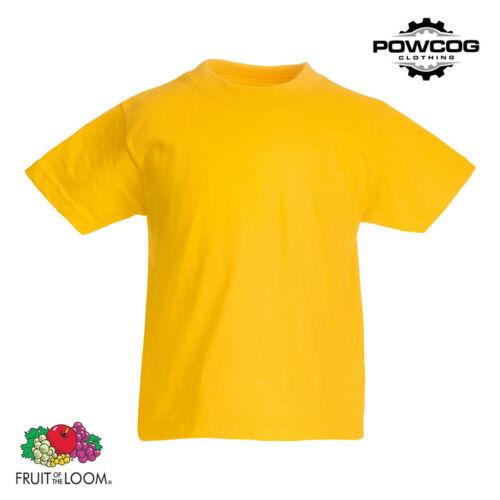 Fruit of the Loom Childrens Plain Original T-Shirt21 COLOURSAGES 3-15