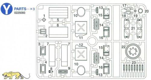 56032-1:16-0225093 für Tamiya Sherman Serie 56014 Y1-Y23 Y Teile