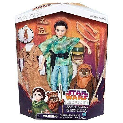 Star Wars Forces of Destiny Princess Leia Organa & Ewok Endor Adventure Figure