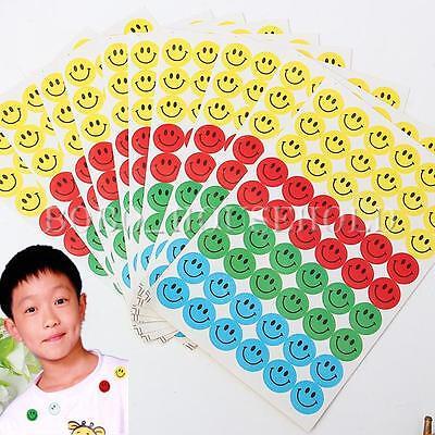 540Pcs Childrens Kids Smiley Face Reward Stickers School Teacher Merit Classroom