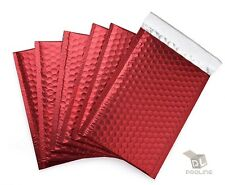 1000 000 Matte Metallic Red Poly Bubble Mailers 4x8 Inner 4x7