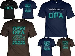 Sprüche T Shirt Opa Geschenk Geburtstag Opi Vatertag Werdender Opa
