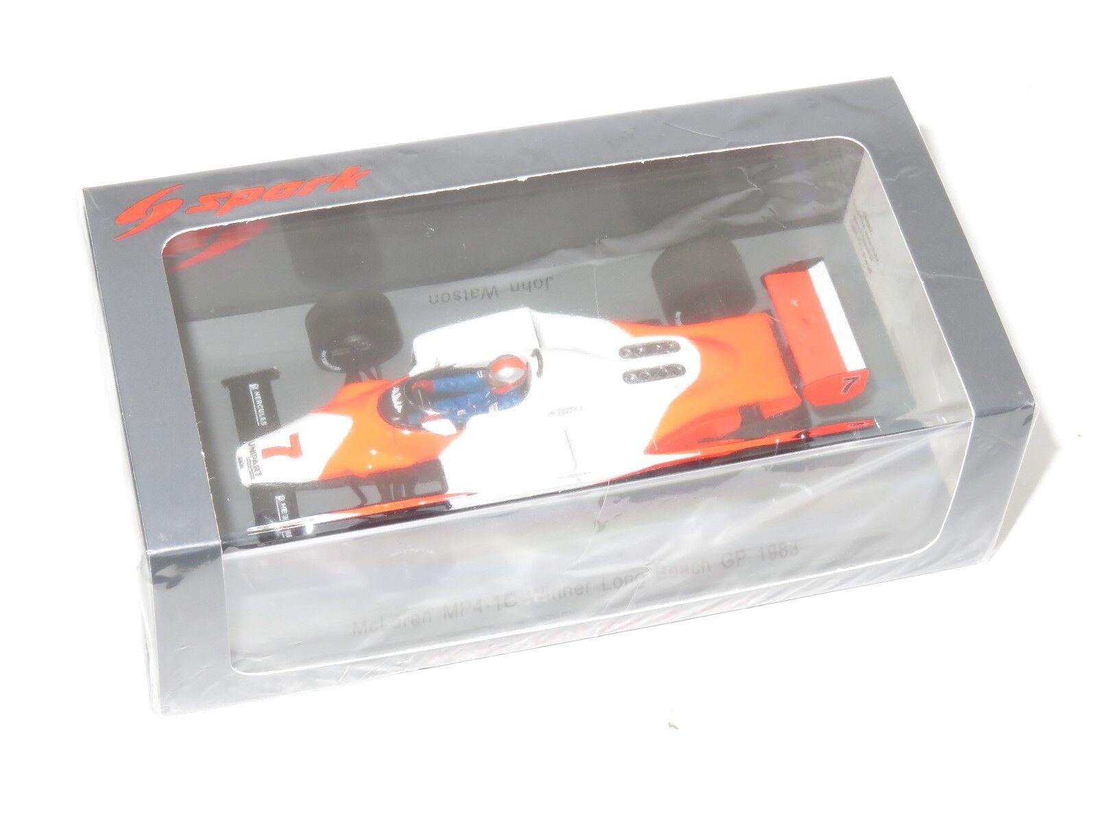 1 43 McLaren MP4-1C  Winner USA GP Long Beach 1983  John Watson