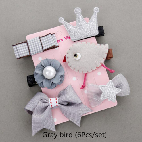 Girls Kids Hair Clip Flower Bowknot Bobby Pin Toddler Baby Hair Accessory 5//6Pcs