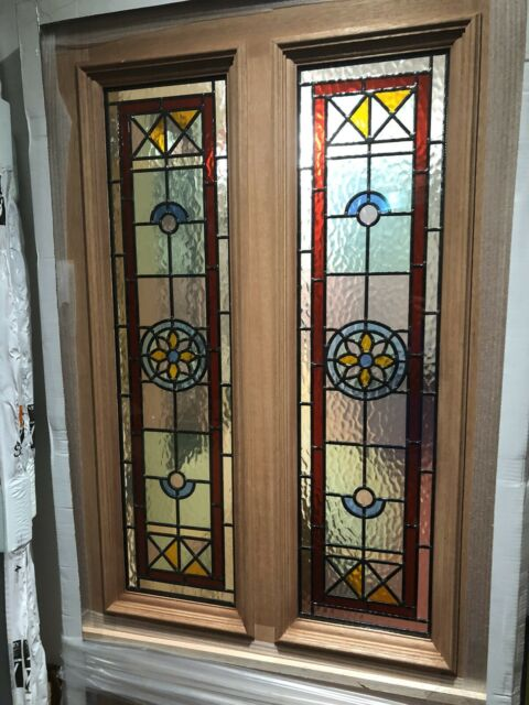 ( Brand New ) Stained Glass External Door (Hardwood) M&T Derby