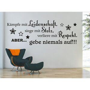 Wandtattoo-Spruch-Kaempe-siege-Stolz-Respekt-Aufkleber-Wandaufkleber-Sticker-1