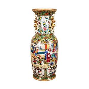 Beautiful-Large-Oriental-Rose-Medallion-Chinese-Porcelain-Vase-24-034