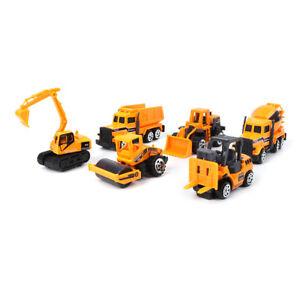 6PCS-Mini-Diecast-Alloy-Construction-Car-Truck-Engineering-Dump-Model-Toys-Set