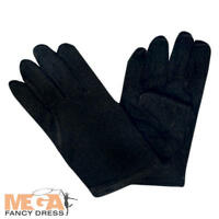 Kids Black Gloves Fancy Dress Magician Vamp Childs Boys Girls Costume Accessory