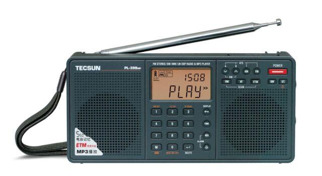 TECSUN PL398MP PLL DSP MP3 PLAYER Dual Speaker Radio    << ENGLISH VERSION >>