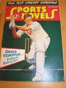 SPORTS-NOVELS-MAR-1955-CRICKET-DENIS-COMPTON-COVER