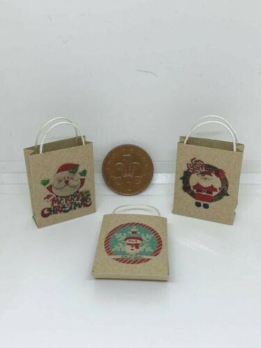 1:12th Scale Miniature Maison de Poupées Accessoires Noël Noël Personnage Sac Cadeau